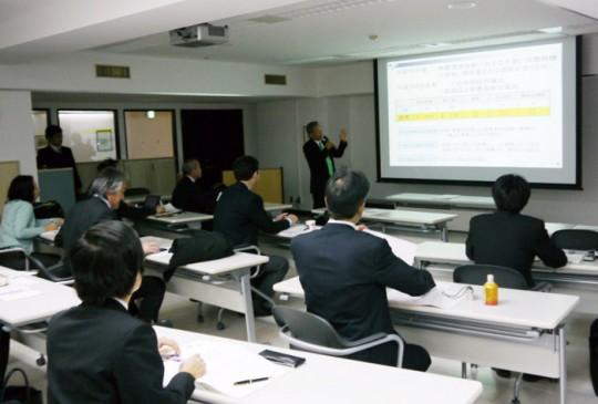 新春記者会見の模様(2012年1月13日)