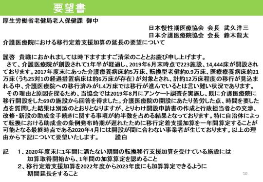 10_介護医療院の開設に関する調査結果_20191114記者会見資料