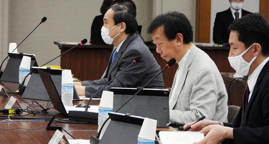 遠藤久夫部会長ら__20201014_医療保険部会