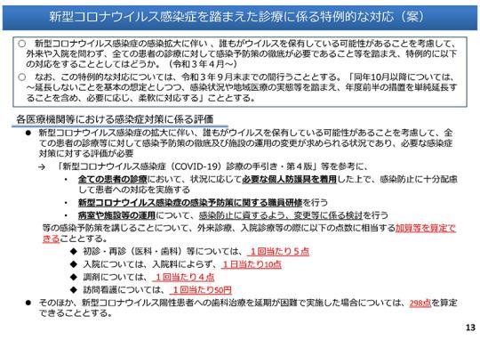02スライド_P13_新型コロナウイルス感染症に伴う医療保険制度の対応について_20201218中医協総会